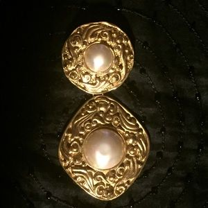 Decadent Pearl and Gold Finish CHANEL Brooch